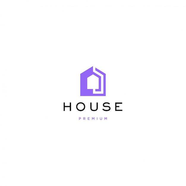 Дом логотип Premium векторы