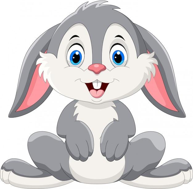 かわいいウサギの漫画 Premiumベクター
