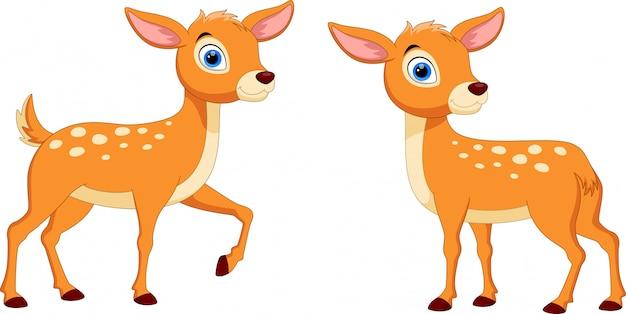 かわいい鹿漫画 Premiumベクター
