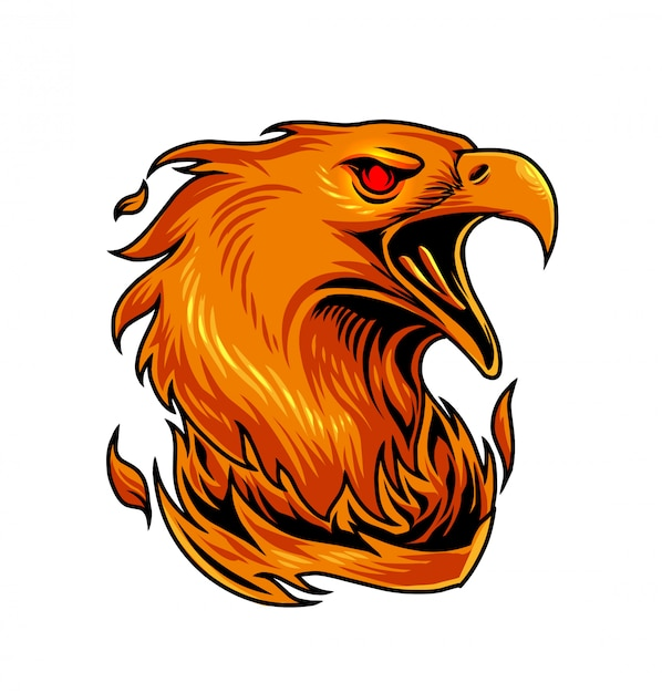 Феникс спортивный логотип талисмана Premium векторы