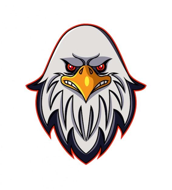 Логотип талисмана головы орла Premium векторы
