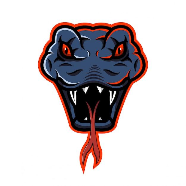 Логотип талисмана головы змеи Premium векторы