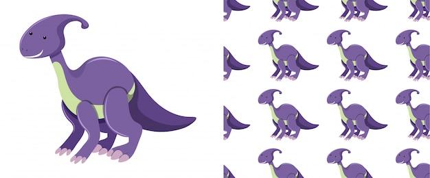 Бесшовные динозавров на белом Premium векторы