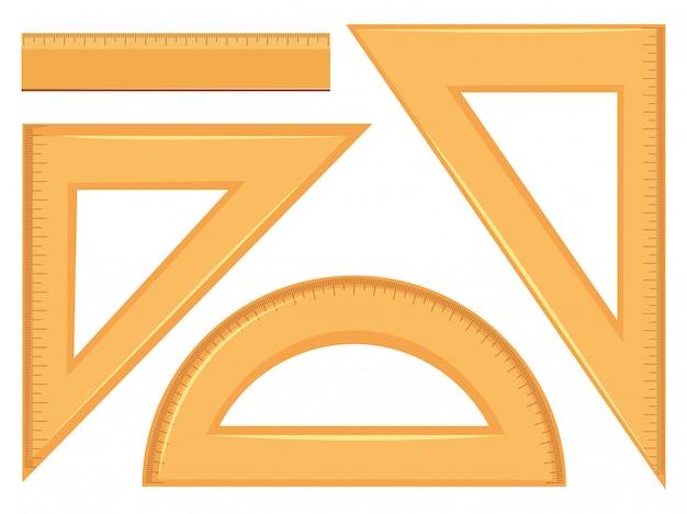数学的ジオメトリツールのセット Premiumベクター