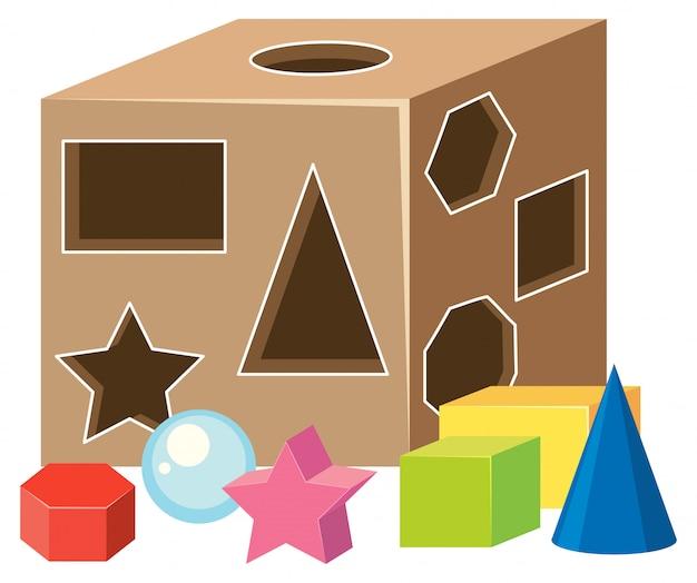 数学幾何形状のおもちゃ Premiumベクター