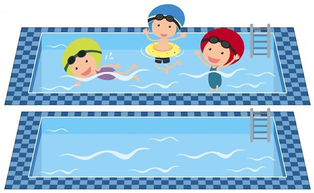 Нарисовать бассейн картинки для детей
