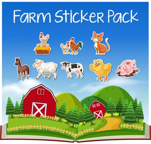 農場の動物のセット Premiumベクター