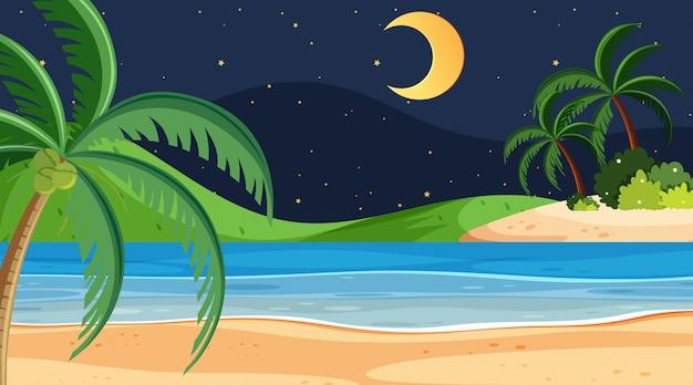 単純なビーチシーン Premiumベクター