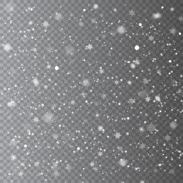 Падающий снег наложение фона Premium векторы
