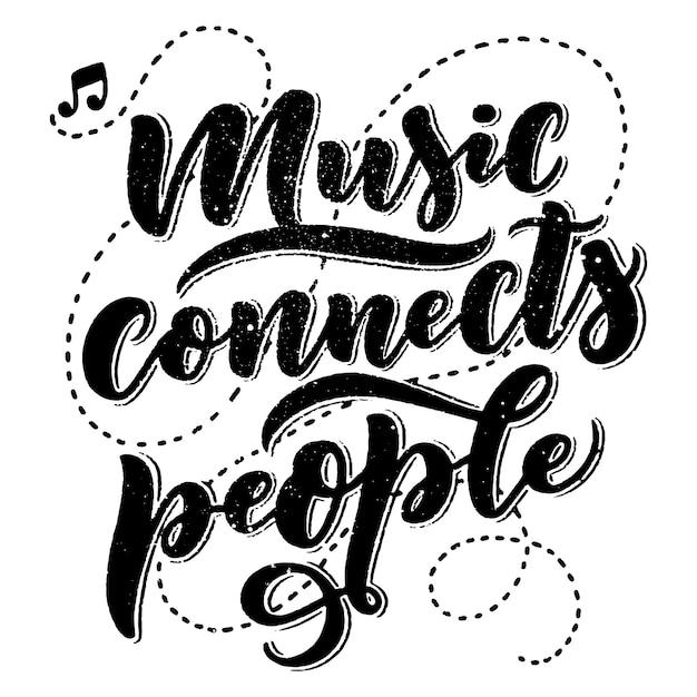 Вдохновляющие цитаты о музыке Premium векторы