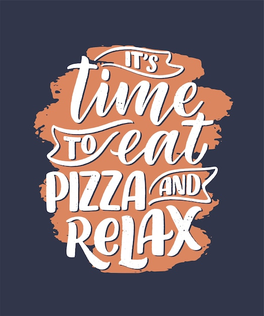 ピザについて手描き下ろし見積もり。活版印刷メニュー。 Premiumベクター
