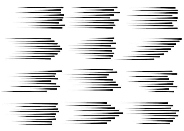 Скоростные линии изолированные набор Premium векторы