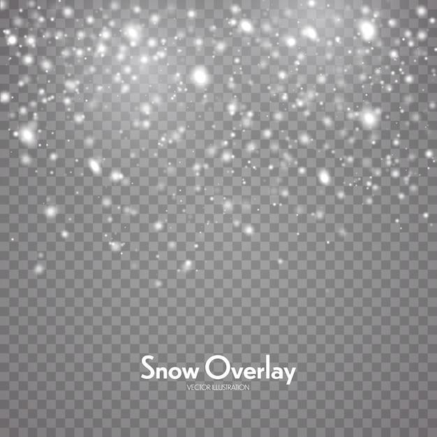 Падающий снег, снегопад фон Premium векторы