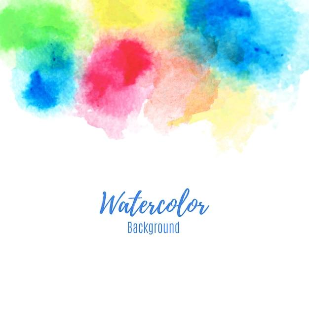 Красочные акварельные краски абстрактный фон. Premium векторы