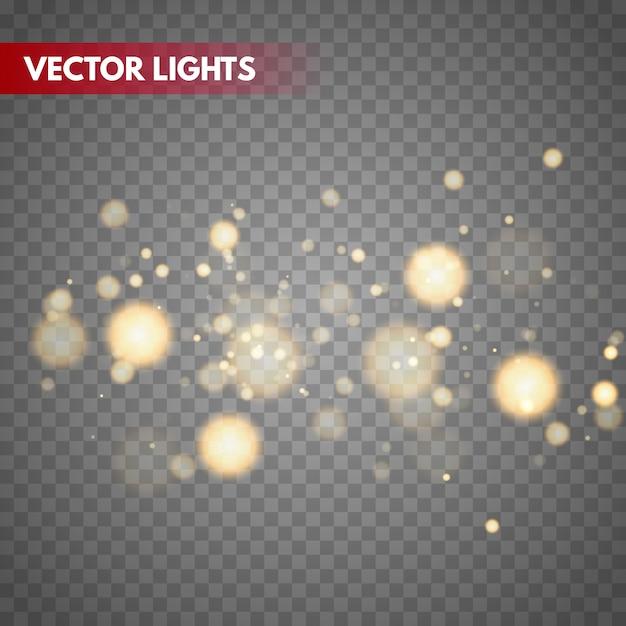 Боке огни векторный фон. магия размытых частиц. Premium векторы