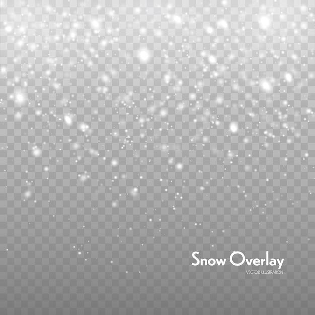 Падающий снег векторный фон. снегопад Premium векторы