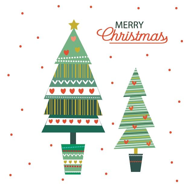 クリスマスツリーの飾り Premiumベクター
