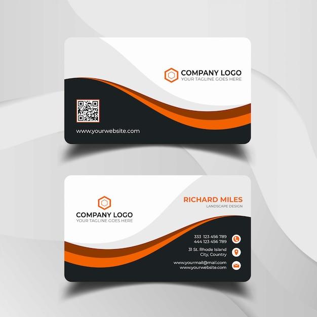 Современный шаблон визитной карточки Premium векторы