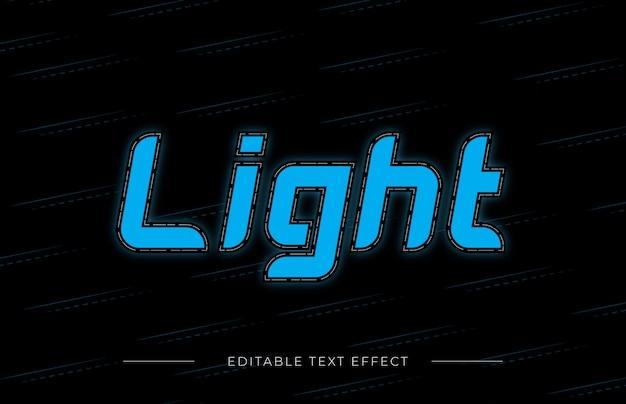 ライトテキスト効果 Premiumベクター