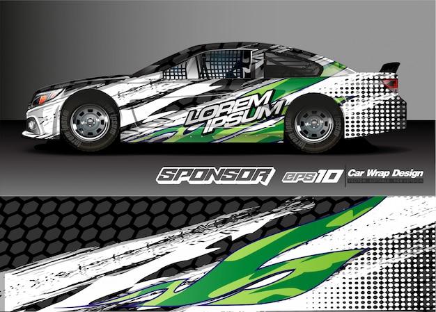 Абстрактный фон вектор для дизайна гоночного автомобиля и окраски автомобиля Premium векторы
