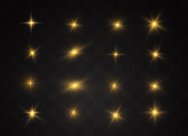 Набор яркого звездного фона Premium векторы