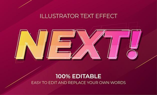 Редактируемые текстовые эффекты - следующие текстовые эффекты Premium векторы