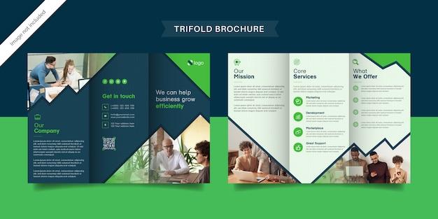 Современный бизнес тройной шаблон брошюры Premium векторы