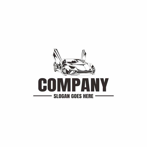 Шаблон логотипа автомобиля. иконка автомобиль для бизнеса. аренда, ремонт, магазин гараж. Premium векторы