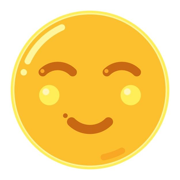 笑顔で笑顔顔文字 Premiumベクター