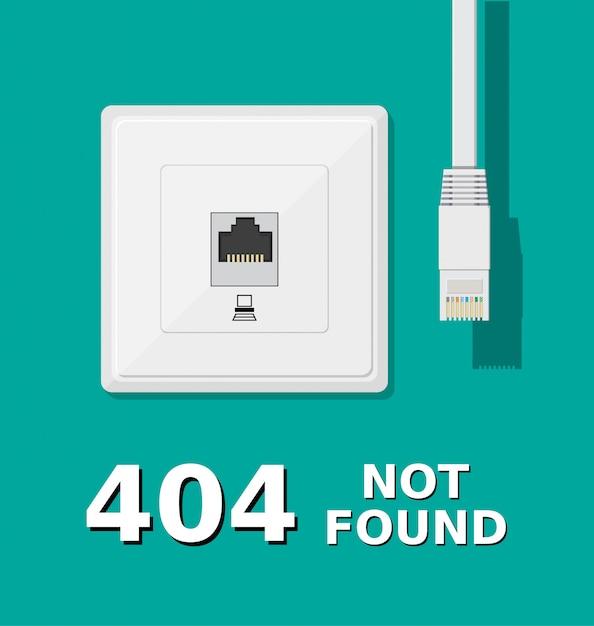 ネットワークソケットと未接続のパッチコード Premiumベクター