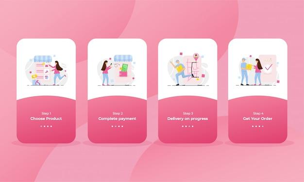Страница интернет-магазина для мобильного телефона Premium векторы