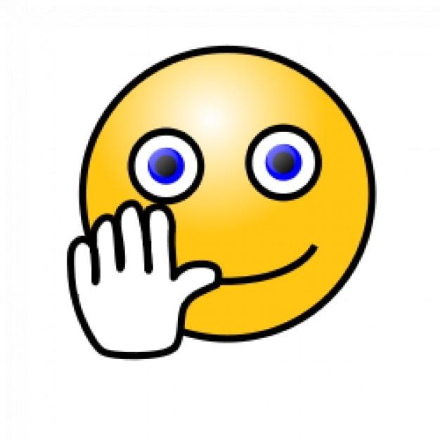 смайлики: размахивая рукой лицо ...: ru.freepik.com/free-vector/emoticons--hand-waving-face_518832.htm