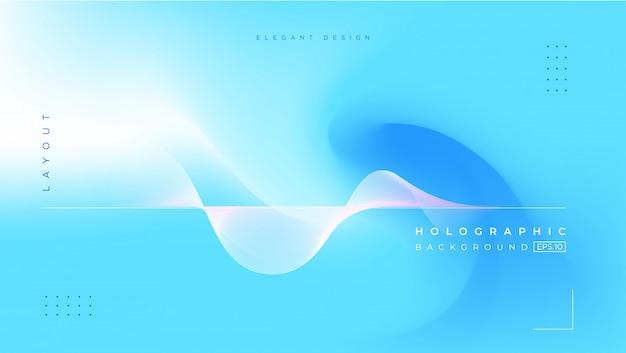 抽象的なぼやけたホログラフィックグラデーション効果の背景 Premiumベクター
