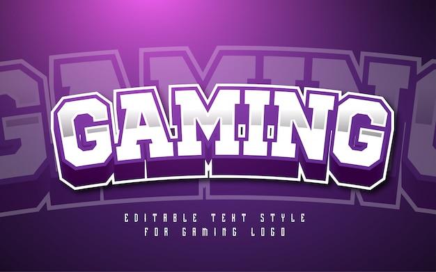Эффект стиля текста игрового логотипа Premium векторы