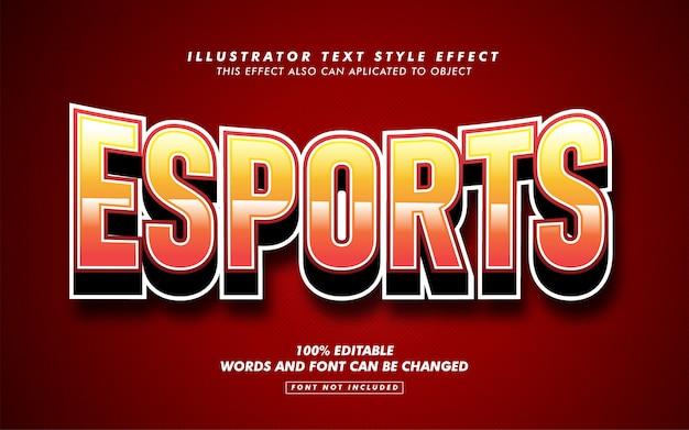 Спортивный текст стиль эффект макет Premium векторы