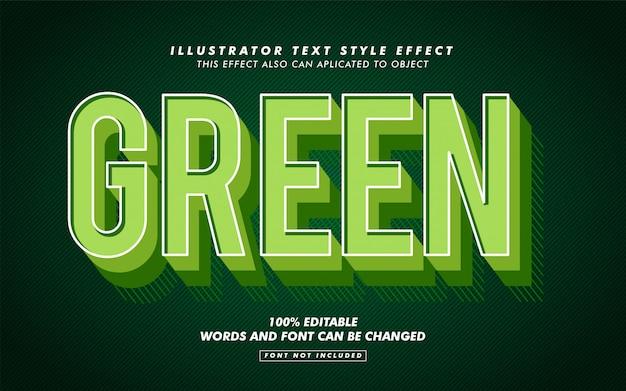 Зеленый ретро текст стиль эффект макет Premium векторы