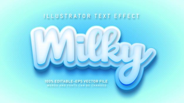 Мягкий молочный текст название эффекта стиля текста Бесплатные векторы