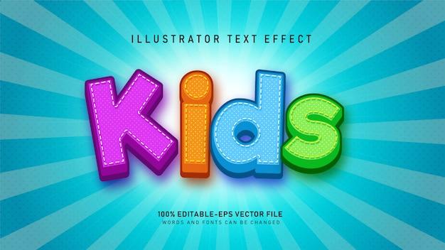 Детский текстовый эффект Premium векторы