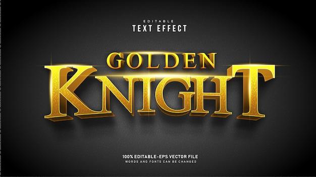 Текстовый эффект золотого рыцаря Бесплатные векторы