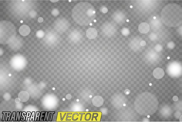 透明な丸いフレーム。分離されたサークルライトグロー効果 Premiumベクター