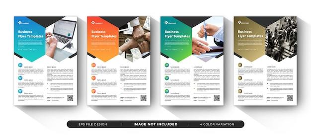 企業のビジネスチラシテンプレートセット Premiumベクター