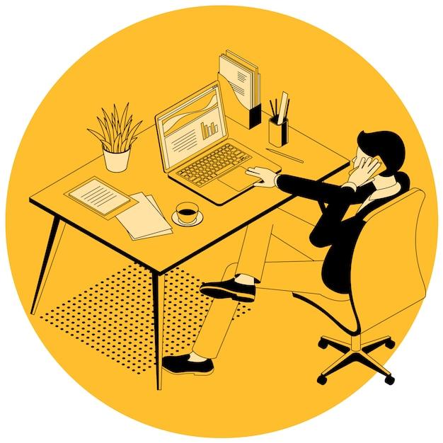 Диспетчер рабочего процесса иллюстрации. Premium векторы