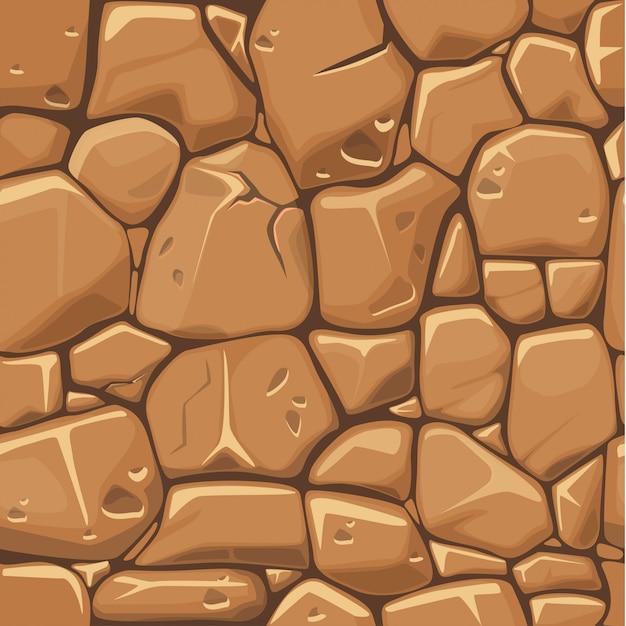 茶色の色のシームレスなパターン背景の石のテクスチャ。 Premiumベクター