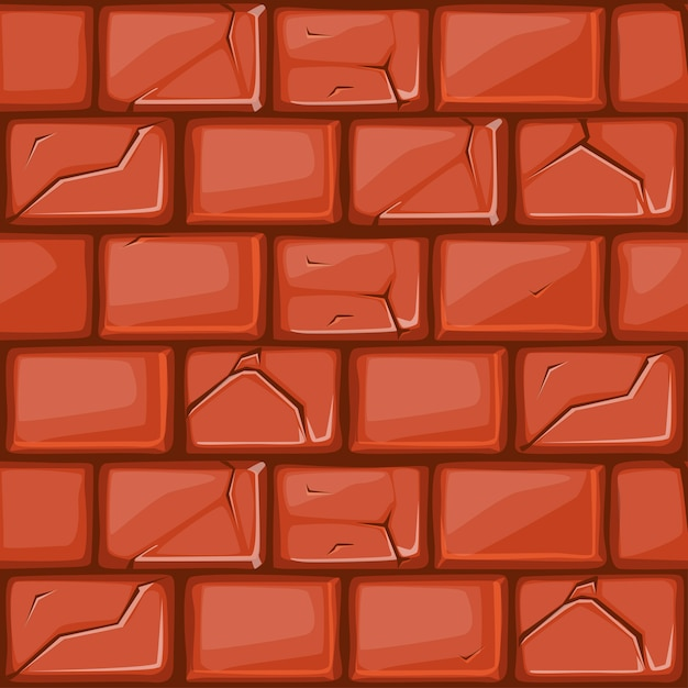 Мультяшный красная каменная стена текстура Premium векторы