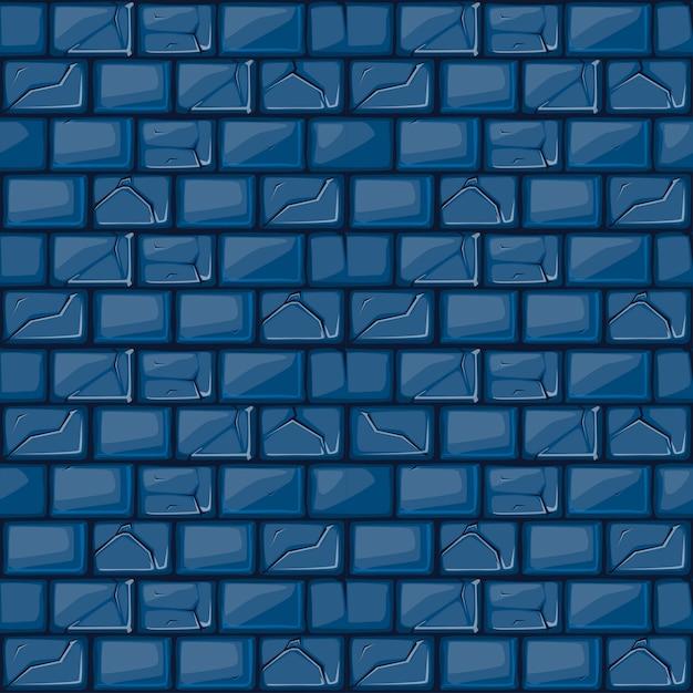 Мультяшный голубой каменной стены текстуры Premium векторы