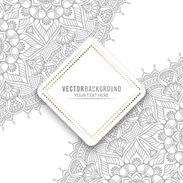 マンダラカードまたはヴィンテージの装飾的な要素の招待状 Premiumベクター