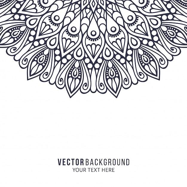 マンダラ。丸い飾りパターン。ヴィンテージの装飾的な要素 Premiumベクター