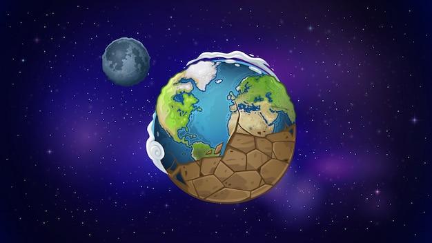 地球は宇宙で乾く Premiumベクター