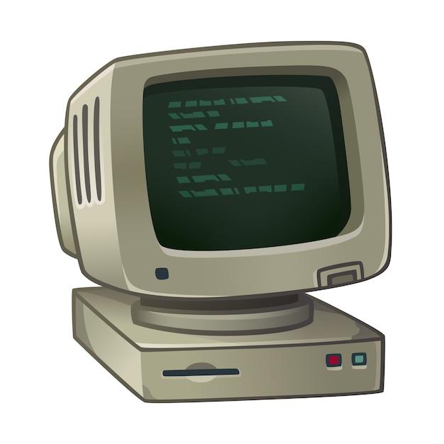 旧世代のコンピューター Premiumベクター