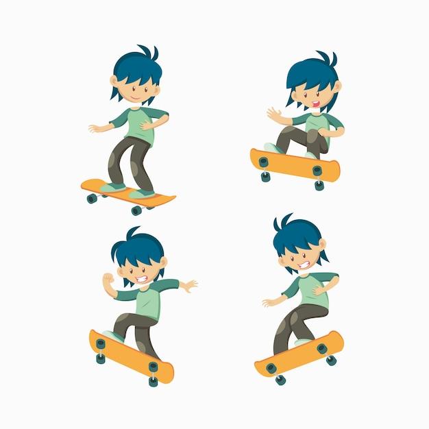 Комплект скейтбордиста Premium векторы